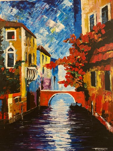 """Painting titled """"Channel"""" by Turkan, Original Art, Acrylic"""