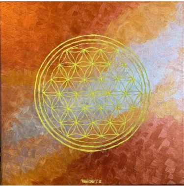 """Painting titled """"Flower of life"""" by Turkan, Original Art, Acrylic"""