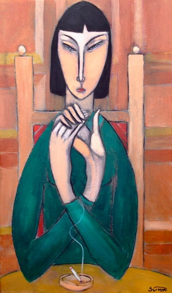 """Painting titled """"hand clasp"""" by Simon Taylor, Original Art, Acrylic"""