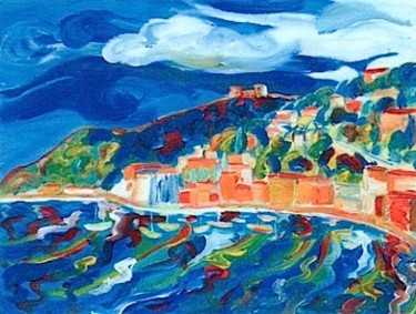 """Painting titled """"villefranche"""" by Simon Taylor, Original Art,"""