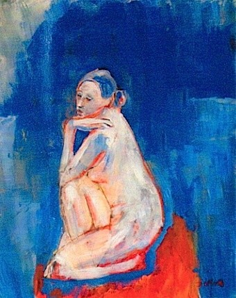 """Painting titled """"Blue lady"""" by Simon Taylor, Original Art,"""