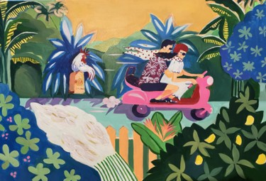 """Painting titled """"It's a Goa Holiday"""" by Simple Mohanty Pani, Original Art, Acrylic"""