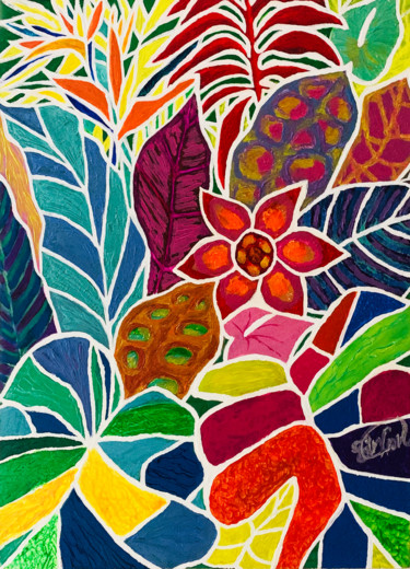"""Painting titled """"In the Tropics"""" by Sir Don, Original Art, Acrylic"""