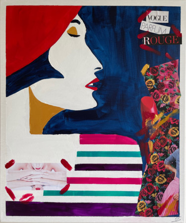 """Painting titled """"Miss Vogue Rouge/ M…"""" by Gaelle Skura, Original Art, Acrylic"""