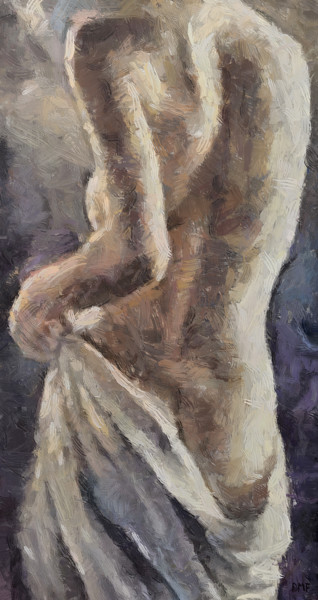 """Painting titled """"After bathing"""" by Dragica Micki Fortuna, Original Art, Oil"""