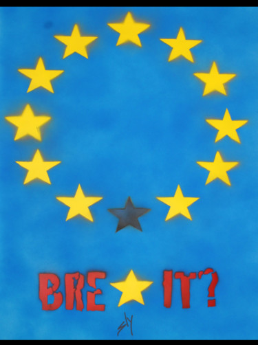 """Painting titled """"Brexit?"""" by Sly Art, Original Art, Acrylic"""