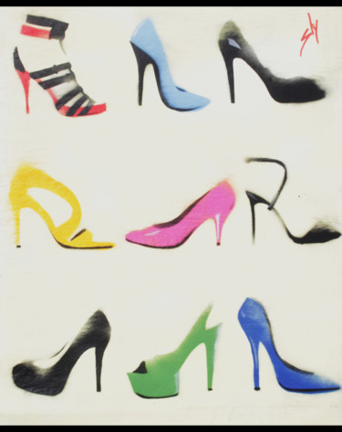 """Painting titled """"Sly Heels (on the D…"""" by Sly Art, Original Art, Acrylic"""
