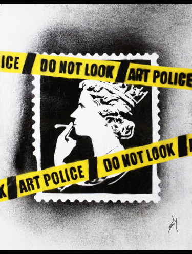 """Painting titled """"Art Police (on the…"""" by Sly Art, Original Art, Acrylic"""
