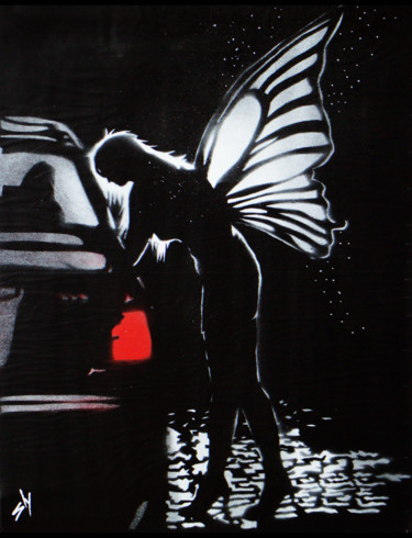 """Painting titled """"Street Fairy 1 (on…"""" by Sly Art, Original Art, Acrylic"""