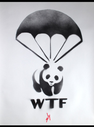 """Painting titled """"WTF (On paper)"""" by Sly Art, Original Art, Acrylic"""