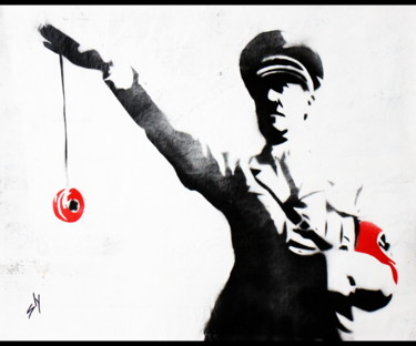 """Painting titled """"Yoyo Hitler (on the…"""" by Sly Art, Original Art, Acrylic"""