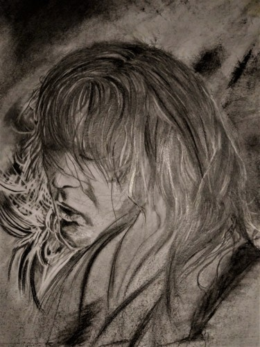 Musicians Drawing, graphite, figurative, artwork by Benny Smet