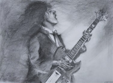 Musicians Drawing, charcoal, figurative, artwork by Benny Smet