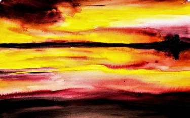 Color Painting, watercolor, abstract, artwork by Benny Smet