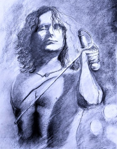 Celebrity Drawing, graphite, figurative, artwork by Benny Smet