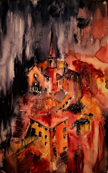 Fantasy Painting, watercolor, figurative, artwork by Benny Smet