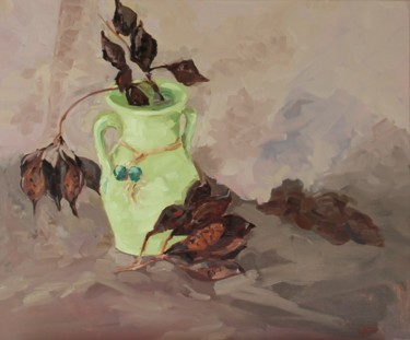 Still life Painting, oil, impressionism, artwork by Chéker