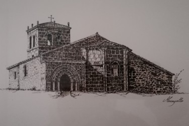 Architecture Drawing, ink, figurative, artwork by Luis Margallo