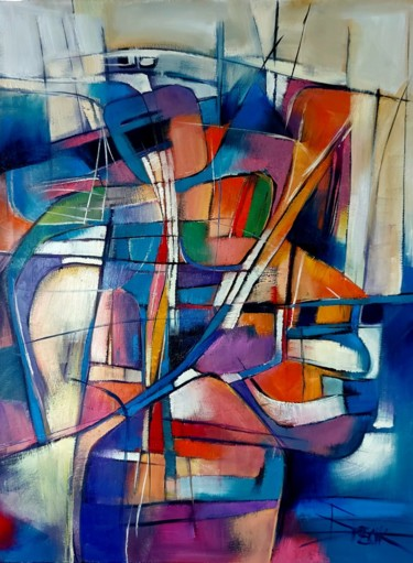 Abstract Painting, oil, abstract, artwork by Sonja Brzak
