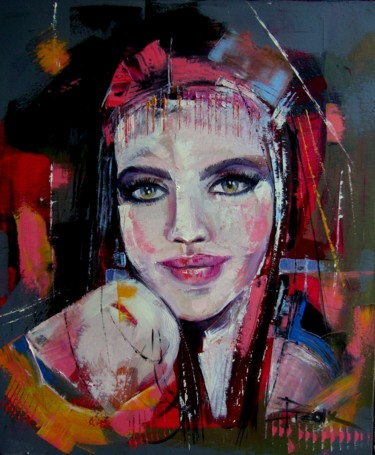 """Painting titled """"A GYPSY GIRL"""" by Sonja Brzak, Original Art, Oil"""