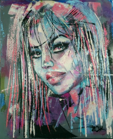 """Painting titled """"WILD AT HEART"""" by Sonja Brzak, Original Art, Oil"""