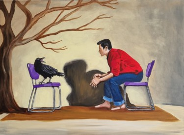 """Painting titled """"Conversation 4"""" by Sophie Ackermann, Original Art, Acrylic"""
