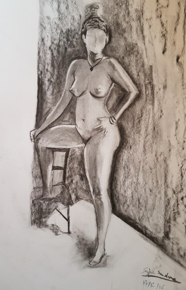 """Drawing titled """"énigme"""" by Sophie Sunshine, Original Art,"""