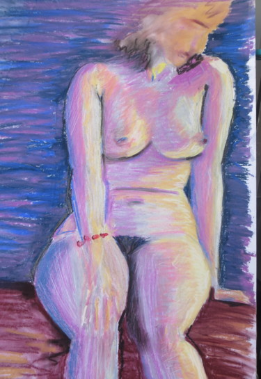 """Drawing titled """"soleil couchant"""" by Sophie Sunshine, Original Art,"""