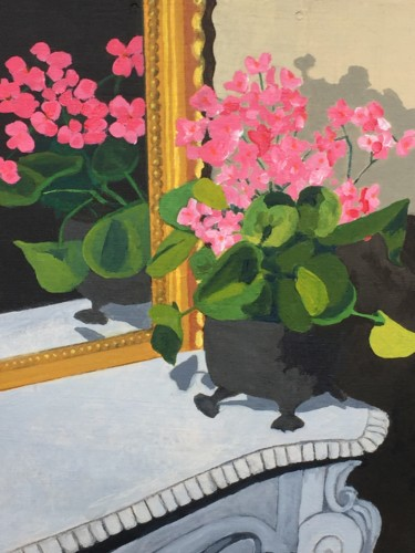 """Painting titled """"Begonia Gloire de L…"""" by Sophie Cordery, Original Art, Acrylic"""