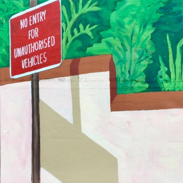 """Painting titled """"No Entry"""" by Sophie Cordery, Original Art, Acrylic"""