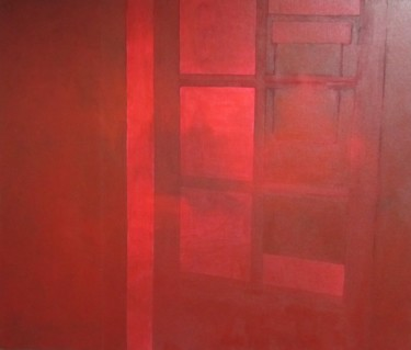 """Painting titled """"Red Interior"""" by Sophie Cordery, Original Art, Acrylic"""