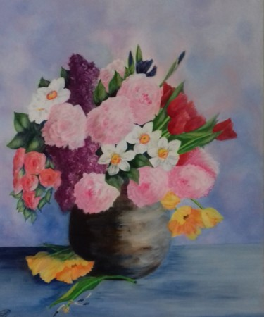 Flower Painting, acrylic, figurative, artwork by Thérèse Soriano