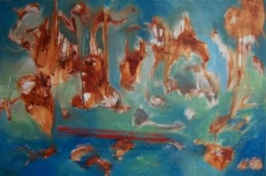 """Painting titled """"Bayou"""" by Scott Spencer, Original Art, Oil Mounted on Stretcher frame"""