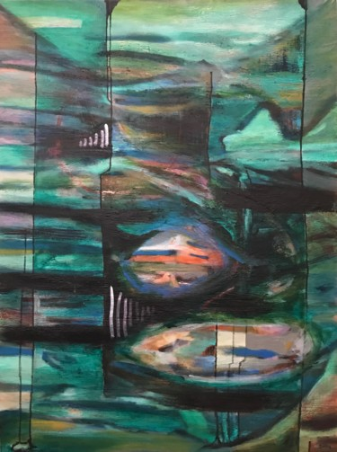 """Painting titled """"Visions"""" by Scott Spencer, Original Art, Acrylic Mounted on Stretcher frame"""