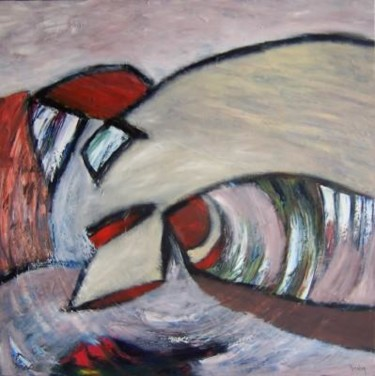 """Painting titled """"Inkling"""" by Scott Spencer, Original Art, Oil Mounted on Stretcher frame"""