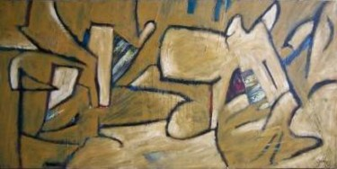 """Painting titled """"Dog Day Afternoon"""" by Scott Spencer, Original Art, Oil Mounted on Stretcher frame"""