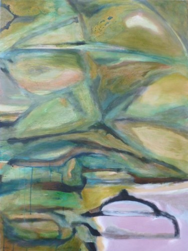"""Painting titled """"Duck Pond"""" by Scott Spencer, Original Art, Oil Mounted on Stretcher frame"""