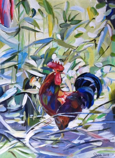 """Painting titled """"Rooster"""" by Stan Bigda, Original Art, Acrylic"""