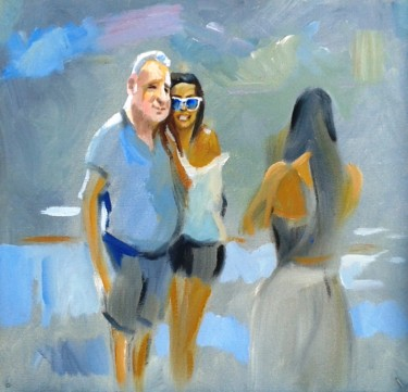 """Painting titled """"Picture of Newlyweds"""" by Stan Bigda, Original Art, Oil"""