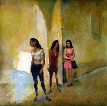 Feminine Painting, oil, figurative, artwork by Stan Bigda