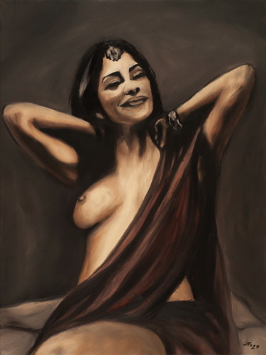 """Painting titled """"Indian / #artistsup…"""" by Stanimir Stoykov, Original Art, Oil"""