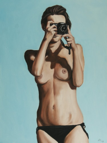 """Painting titled """"Photographer / #art…"""" by Stanimir Stoykov, Original Art, Oil"""