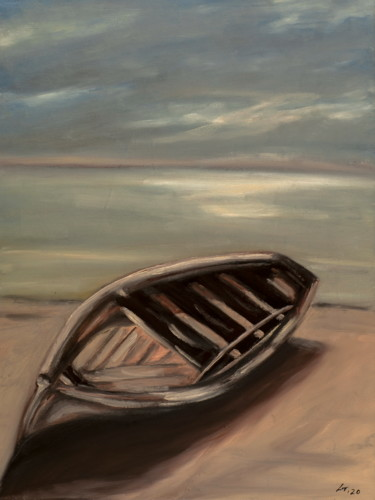 """Painting titled """"Boat / #artistsuppo…"""" by Stanimir Stoykov, Original Art, Oil"""