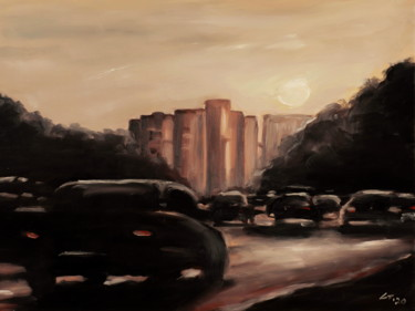 """Painting titled """"City / #artistsuppo…"""" by Stanimir Stoykov, Original Art, Oil"""
