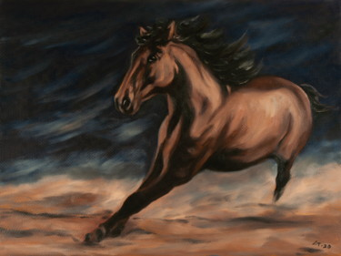 """Painting titled """"Horse / #artistsupp…"""" by Stanimir Stoykov, Original Art, Oil"""