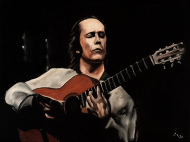 """Painting titled """"Paco de Lucia / #ar…"""" by Stanimir Stoykov, Original Art, Oil"""