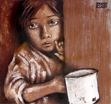 Painting, oil, figurative, artwork by Stanislao