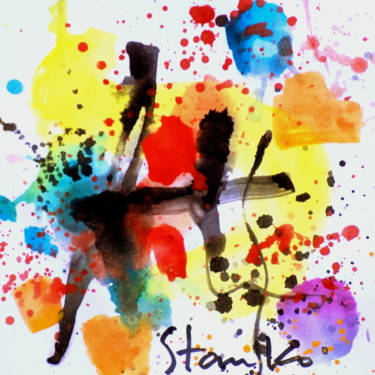 Color Painting, watercolor, abstract, artwork by Stanislav Bojankov