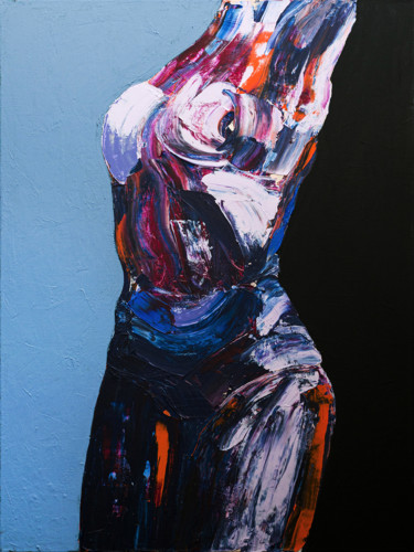 Feminine Painting, acrylic, figurative, artwork by Stas Royze