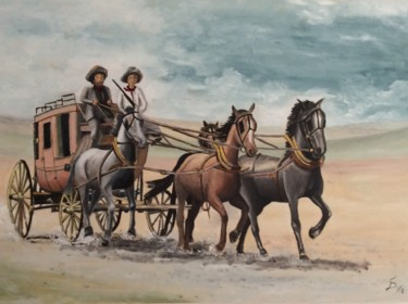 """Painting titled """"stage Coach"""" by Stefan Dhein, Original Art, Oil"""